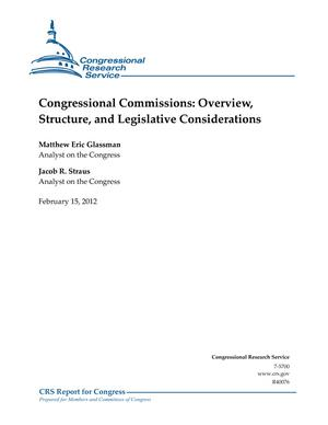 Congressional Commissions: Overview, Structure, and Legislative Considerations