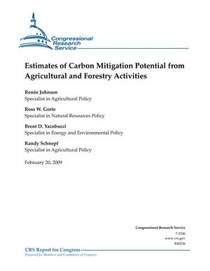 Estimates of Carbon Mitigation Potential from Agricultural and Forestry Activities