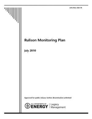 Primary view of object titled 'Rulison Monitoring Plan'.