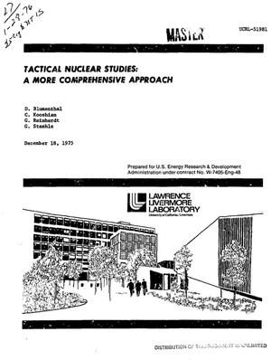 Primary view of object titled 'Tactical nuclear studies: a more comprehensive approach'.