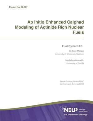 Primary view of object titled 'Ab Initio Enhanced calphad Modeling of Actinide-Rich Nuclear Fuels'.