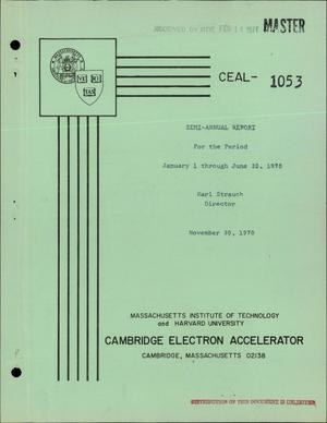 Primary view of object titled 'SEMI-ANNUAL REPORT FOR THE PERIOD JANUARY 1--JUNE 30, 1970.'.