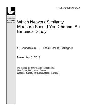 Primary view of object titled 'Which Network Similarity Measure Should You Choose: An Empirical Study'.