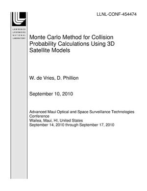 Primary view of object titled 'Monte Carlo Method for Collision Probability Calculations Using 3D Satellite Models'.