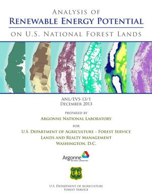 Primary view of object titled 'Analysis of Renewable Energy Potential on U. S. National Forest Lands'.