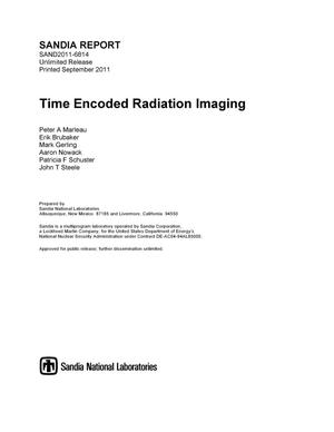 Primary view of object titled 'Time Encoded Radiatoin Imaging.'.