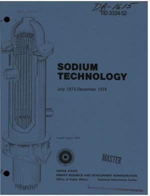 Primary view of object titled 'Sodium technology, July 1973--December 1974'.