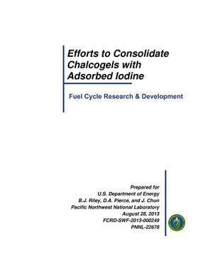 Primary view of object titled 'Efforts to Consolidate Chalcogels with Adsorbed Iodine'.