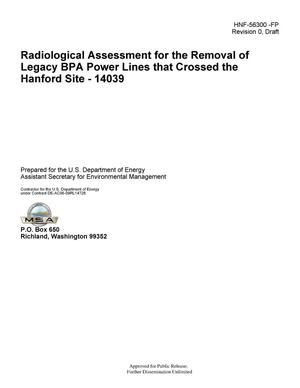 Primary view of object titled 'Radiological Assessment for the Removal of Legacy BPA Power Lines that Cross the Hanford Site'.