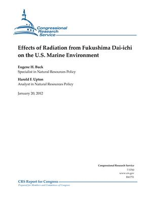 Effects of Radiation from Fukushima Dai-ichi on the U.S. Marine Environment