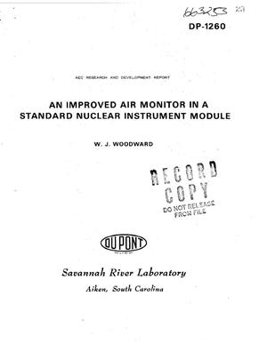 Primary view of object titled 'Improved Air Monitor in a Standard Nuclear Instrument Module.'.