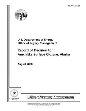 Primary view of object titled 'Record of Decision for Amchitka Surface Closure, Alaska'.