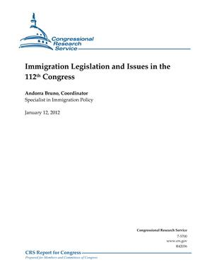 Immigration Legislation and Issues in the 112th Congress