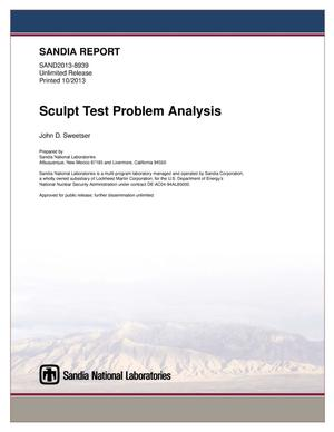 Primary view of object titled 'Sculpt test problem analysis.'.