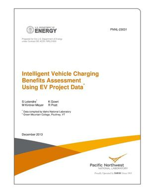 Primary view of object titled 'Intelligent Vehicle Charging Benefits Assessment Using EV Project Data'.