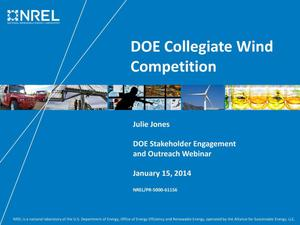 Primary view of object titled 'DOE Collegiate Wind Competition (Presentation)'.