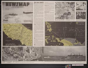 Primary view of object titled 'Newsmap. For the Armed Forces. 246th week of the war, 128th week of U.S. participation'.