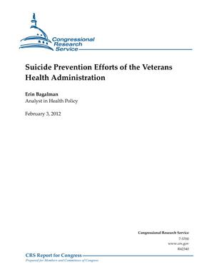 Suicide Prevention Efforts of the Veterans Health Administration