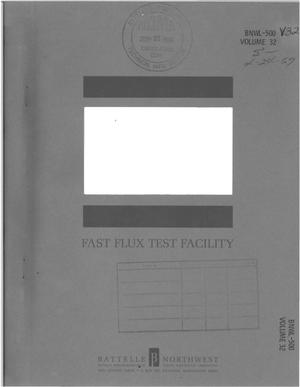 Primary view of object titled 'FAST FLUX TEST FACILITY. CONCEPTUAL COMPONENT DESIGN DESCRIPTION FOR THE REACTOR VESSEL AND SHIELD COMPONENT NO. 32.'.