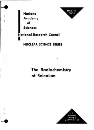 Primary view of object titled 'THE RADIOCHEMISTRY OF SELENIUM'.