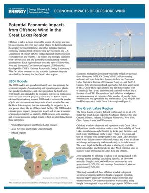 Primary view of object titled 'Potential Economic Impacts from Offshore Wind in the Great Lakes Region (Fact Sheet)'.