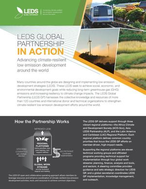 Primary view of object titled 'LEDS Global Partnership in Action: Advancing Climate-Resilient Low Emission Development Around the World (Fact Sheet)'.