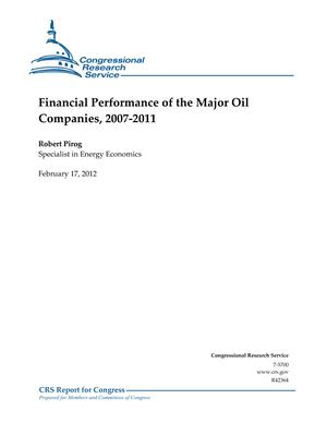 Financial Performance of the Major Oil Companies, 2007-2011