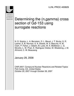 Primary view of object titled 'Determining the (n,gamma) cross section of Gd-153 using surrogate reactions'.