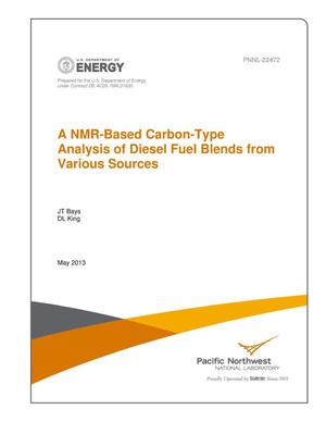 Primary view of object titled 'A NMR-Based Carbon-Type Analysis of Diesel Fuel Blends From Various Sources'.