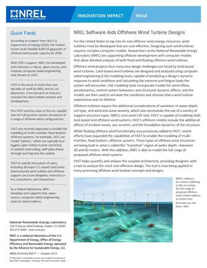 Primary view of object titled 'NREL Software Aids Offshore Wind Turbine Designs (Fact Sheet)'.