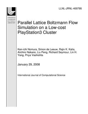 Primary view of object titled 'Parallel Lattice Boltzmann Flow Simulation on a Low-cost PlayStation3 Cluster'.
