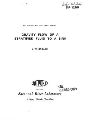 Primary view of object titled 'GRAVITY FLOW OF A STRATIFIED FLUID TO A SINK.'.