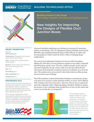 Primary view of object titled 'New Insights for Improving the Designs of Flexible Duct Junction Boxes (Fact Sheet)'.