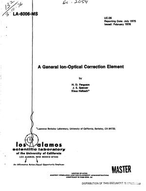 Primary view of object titled 'General ion-optical correction element'.