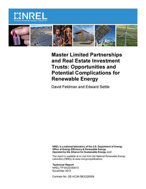 Primary view of object titled 'Master Limited Partnerships and Real Estate Investment Trusts: Opportunities and Potential Complications for Renewable Energy'.