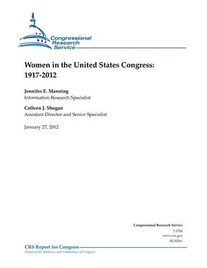 Women in the United States Congress: 1917-2012