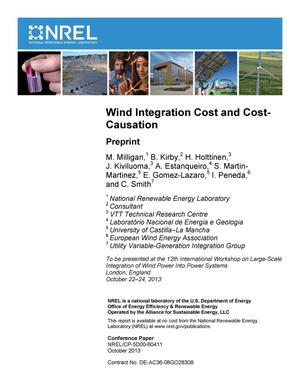 Primary view of object titled 'Wind Integration Cost and Cost-Causation: Preprint'.