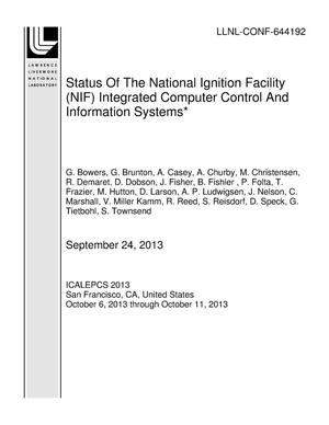 Primary view of object titled 'Status Of The National Ignition Facility (NIF) Integrated Computer Control And Information Systems*'.
