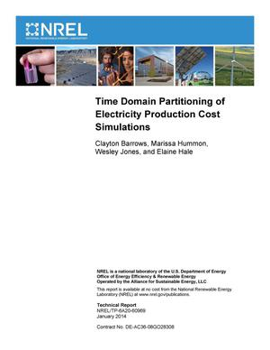 Primary view of object titled 'Time Domain Partitioning of Electricity Production Cost Simulations'.