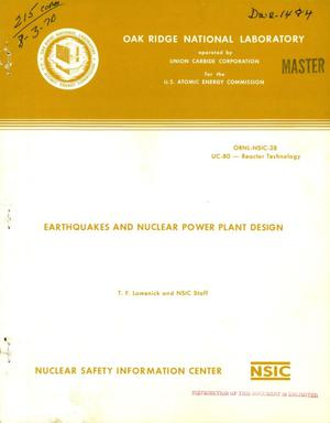 Primary view of object titled 'EARTHQUAKES AND NUCLEAR POWER PLANT DESIGN.'.