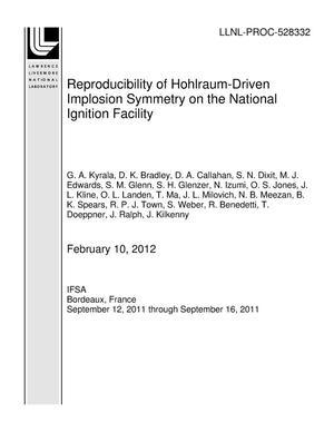 Primary view of object titled 'Reproducibility of Hohlraum-Driven Implosion Symmetry on the National Ignition Facility'.