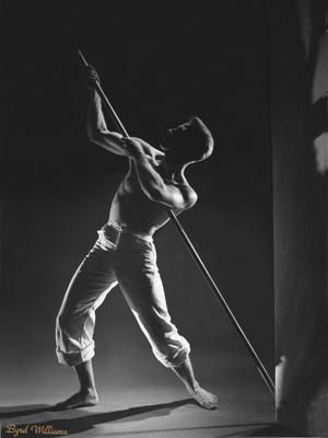 Primary view of object titled '[Dancer with a pole]'.