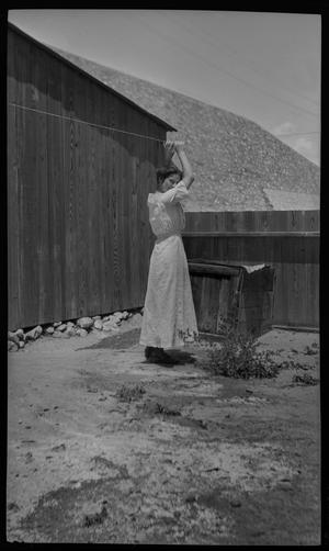 Primary view of object titled '[Neighborhood girl in El Paso]'.
