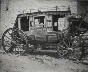 Primary view of object titled '[Wagon purported to be Sam Houston's stagecoach]'.