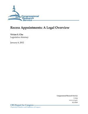 Recess Appointments: A Legal Overview
