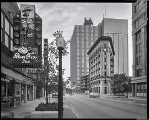 Primary view of object titled '[The Flatiron building in Fort Worth]'.