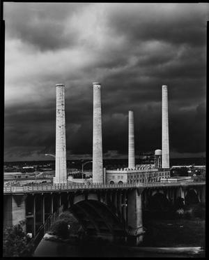 Primary view of object titled '[Smoke stacks]'.