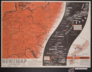 Primary view of object titled 'Newsmap. For the Armed Forces. 292nd week of the war, 174th week of U.S. participation'.