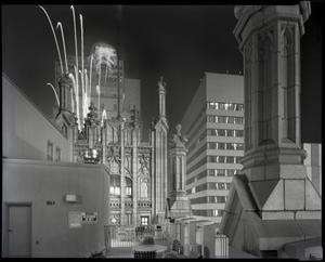 Primary view of object titled '[Downtown Fort Worth during New Year's Eve]'.
