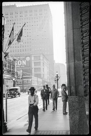 Primary view of object titled '[A street in downtown Fort Worth]'.